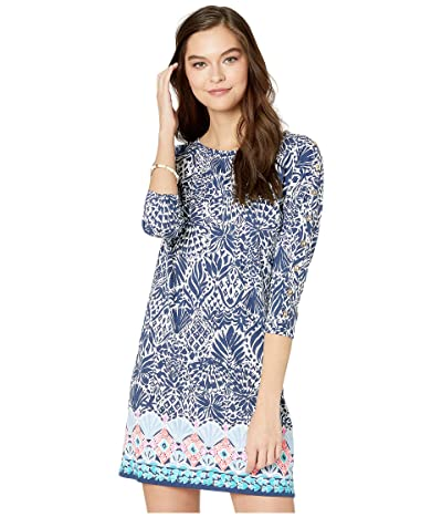 Lilly Pulitzer Vivvy Dress (High Tide Navy By Land Or By Sea) Women