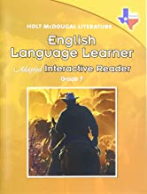Holt McDougal Literature: English Language Learner Adapted Interactive Reader Grade 7