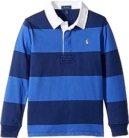 Polo Ralph Lauren Kids - Striped Cotton Rugby Shirt (Little Kids/Big Kids)