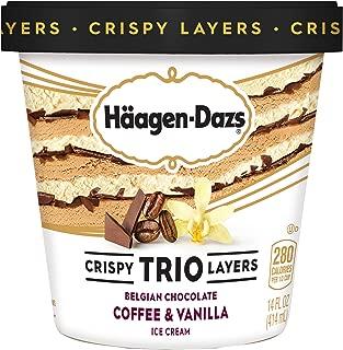Haagen-Dazs Trio Coffee Vanilla Chocolate Ice Cream, 14 oz (Frozen)