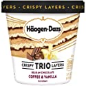 Haagen-Dazs Trio Coffee Vanilla Chocolate Ice Cream, 14 oz (Frozen)