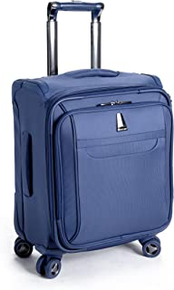 Delsey Luggage Helium X'pert Lite Personal Ultra Light 4 Wheel Spinner Tote, Blue, 18 Inch