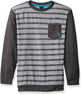 Boys' Long Sleeve Striped Crew Neck T-Shirt