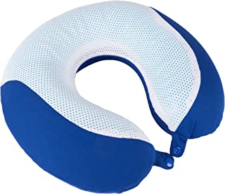 Lavish Home Memory Foam Travel Pillow- with Gel That Cools for Head/Neck Support with Pillowcase for Sleeping, Traveling, ...