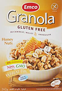 Emco Gluten Free Granola, Honey And Nuts, 340 gm