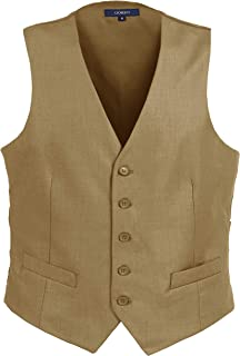 tan wedding vest