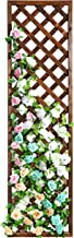 MyGift Rectangular Wood Garden Trellis, Wall Mounted Lattice Plant Screen, Brown