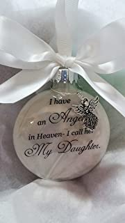 Child Memorial Christmas Ornament Sympathy Gift - Angel in Heaven I Call Her My Daughter