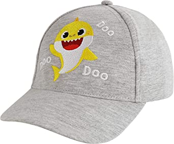Nickelodeon Kids baseball Hat for Boys Ages 2-4 Baby Shark Cap 3D Design fin, Yellow
