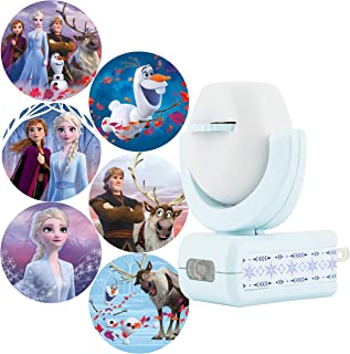 Projectables Frozen 2 LED Night Light, 6-Image, Plug-in, Dusk-to-Dawn, UL-Listed, Scenes of Elsa, Anna, and Olaf on Ceiling, Wall, or Floor, Ideal for Bedroom, Nursery, 45028