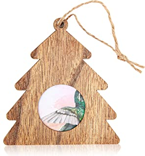 Bright Creations Wood Photo Frame Ornaments (6 Pack) Tree, 4.5 Inches