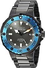 ساعة انفيكتا للرجال برو دايفر أوتوماتيك ذاتي ويند مع حزام ستانلس ستيل، اسود، 26 (24466)