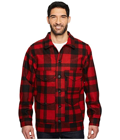Men's Vintage Style Coats and Jackets Filson Mackinaw Crusier RedBlack Mens Clothing $395.00 AT vintagedancer.com