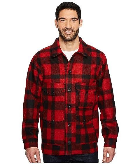 1920s Mens Coats & Jackets History Filson Mackinaw Crusier RedBlack Mens Clothing $395.00 AT vintagedancer.com