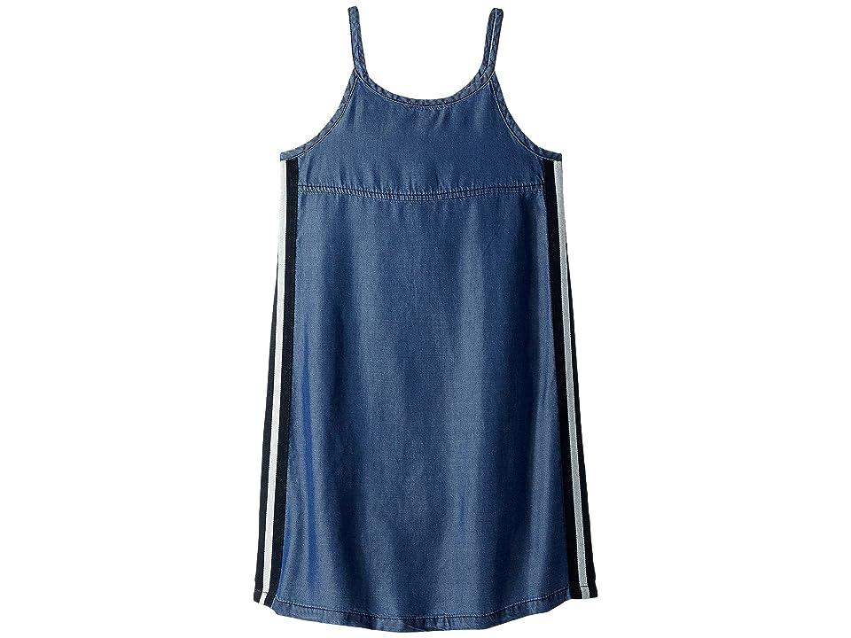 Splendid Littles Side Taping Tencel Dress (Big Kids) (Indigo) Girl