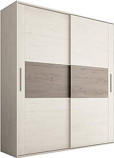 HomeSouth - Armario 2 Puertas Correderas para Dormitorio y