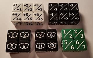 24x Counter, Negative, Goyf & Loyalty Dice for Magic: The Gathering and other games/CCG MTG