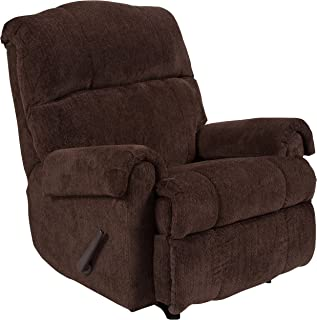 Flash Furniture Contemporary Kelly Chocolate Super Soft Microfiber Rocker Recliner