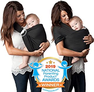 4 in 1 Baby Wrap Carrier and Ring Sling by Kids N' Such | Cotton | Use as a Postpartum Belt and Nursing Cover with Free Carrying Pouch | Best Baby Shower Gift for Boys or Girls