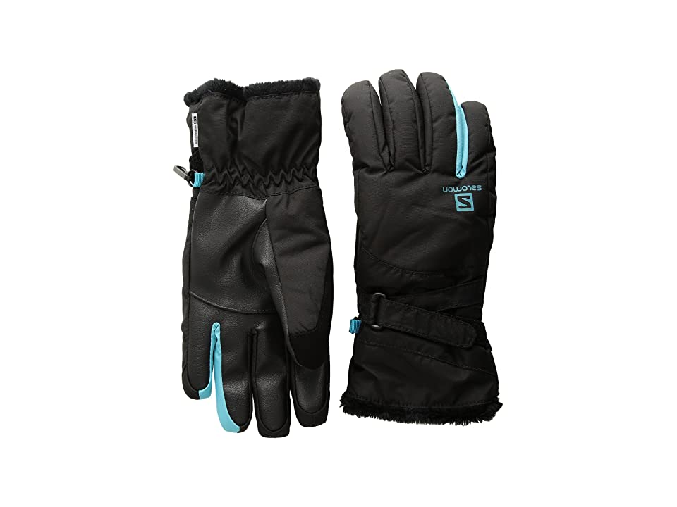 Salomon Force Dry W (Black/Blue Bird) Gore-Tex Gloves