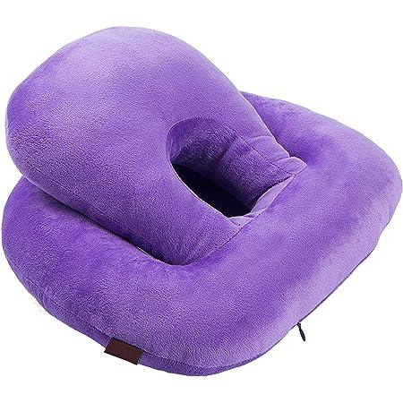 快適うつ伏せ寝 お昼寝 仮眠枕 ごろ寝 オフィスまくら 快眠枕 横向け寝 多機能クッション 通気穴枕