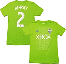 Clint Dempsey Seattle Sounders FC #2 Green Youth Name and Number T Shirt