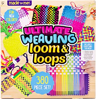 Made By Me Ultimate Weaving Loom by Horizon Group Usa, Includes Over 360 Craft Loops & 1 Weaving Loom (Amazon Exclusive), Multicolor