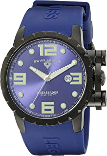 Swiss Legend Men's 30021-BB-03 Ambassador Royal Blue Dial and Royal Blue Silicone Watch