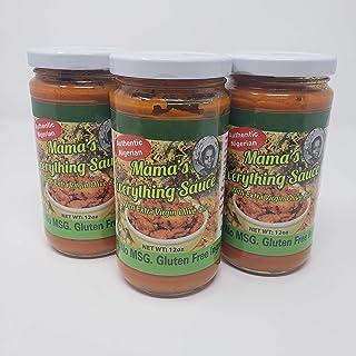 Mama's Everything Sauce, Nigerian Stew Sauce, Soup base - Vegetarian, Gluten Free Ingredients