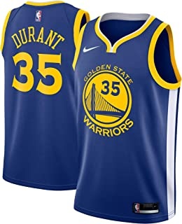 Nike Kevin Durant Golden State Warriors NBA Youth Royal Blue Road Icon Edition Swingman Jersey