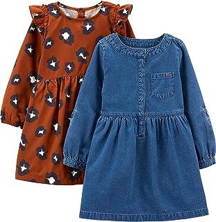 Simple Joys by Carter's Girls' 2-Pack Long-Sleeve Dress Set