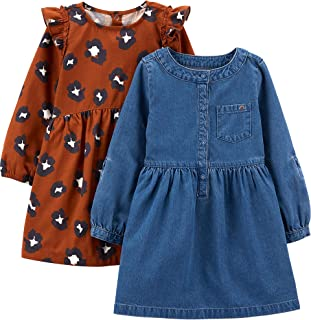 Simple Joys by Carter`s Girls` 2-Pack Long-Sleeve Dress Set