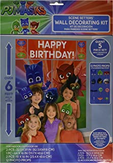 amscan PJ Masks Wall Poster Decorating Kit w/ Photo Props (17pc)