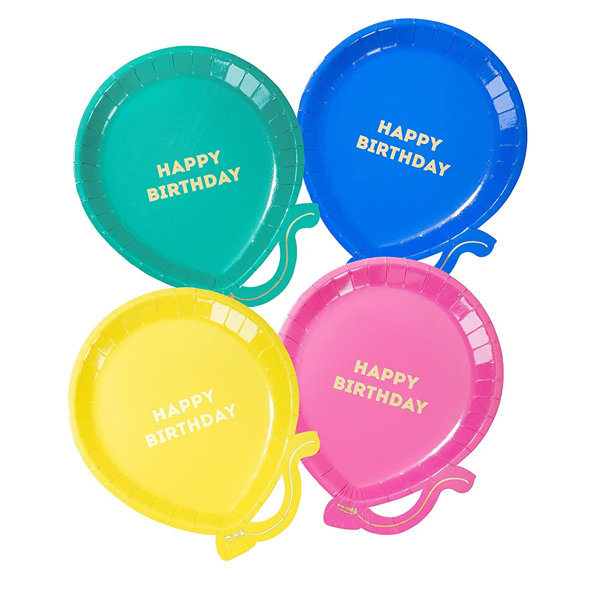 Talking Tables Plate-Ball We Heart Brights Dipped Balloons, Multicolor