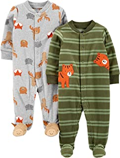 Simple Joys by Carter's 2-Pack Fleece Footed Sleep and Play Infant-and-Toddler-Sleepers Unisex bebé (Pack de 2)