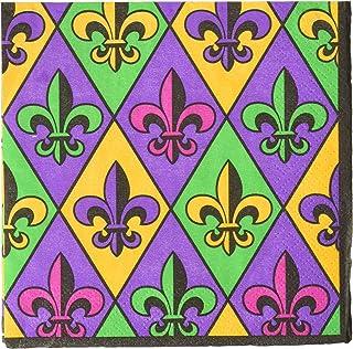 مناديل مشروبات فلور دي ليز 701902 من أمسكان، مقاس واحد، متعددة الألوان