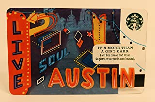 Starbucks Gift Card Collectible No Value 2016 Austin Texas City Card Limited Edition