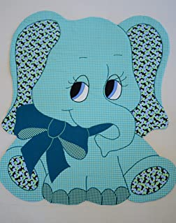 """Kiddie Komfies Baby Quilt Patterns, by, Elephant Patchwork Quilt Pattern Boy Girl Quilt Kits Easy 42"""" x 52"""""""