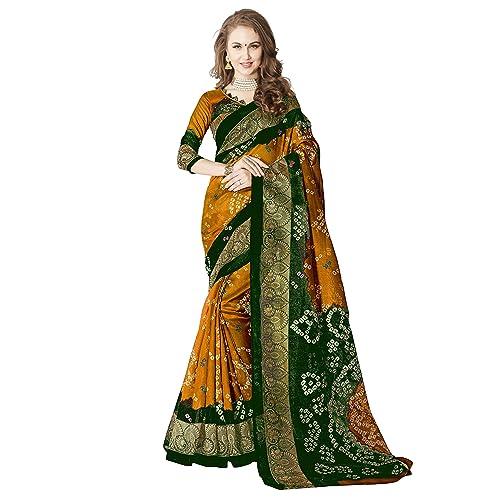 5a61ab2669 Silk Bandhani Saree: Buy Silk Bandhani Saree Online at Best Prices ...