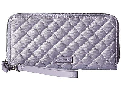Vera Bradley Iconic RFID Accordion Wristlet (Lavender Pearl) Wristlet Handbags