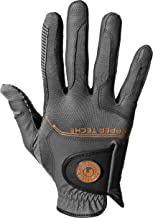 Copper Tech Gloves Men's COPCOMBICHGYMR Golf Glove with Spider Tacky Grip, One Size, Charcoal/Gray