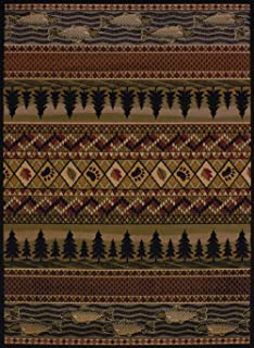United Weavers of America Affinity Collection River Ridge Indoor Rug - 5ft. 3in. x 7ft. 2in., Multicolor, Machine Made Rug with Jute Backing
