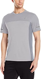 New Balance Mens Short sleeve Stripe  Colorblock Tee