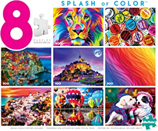 Buffalo Games Splash of Color 8-in-1 Jigsaw Puzzle Multi Pack