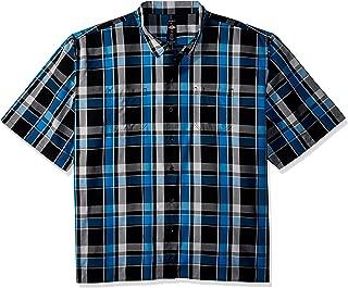 dickies Men's Yarn Dyed Short Sleeve Camp Shirt Big-Tall