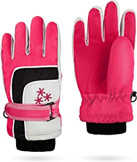 Insulated Winter Cold Weather Ski Gloves for Kids (Boys...