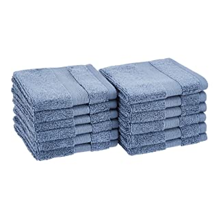 AmazonBasics Dual Performance Washcloths - 12-Pack, True Blue