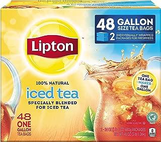 Lipton Gallon-Sized Black Iced Tea Bags, Unsweetened, 48 ct