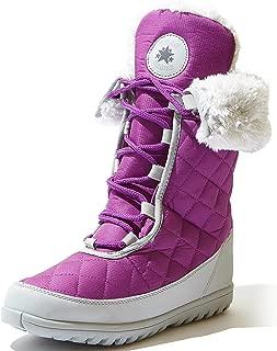 Women's Comfort Round Toe Mid Calf Flat Ankle High Eskimo Winter Fur Snow Boots
