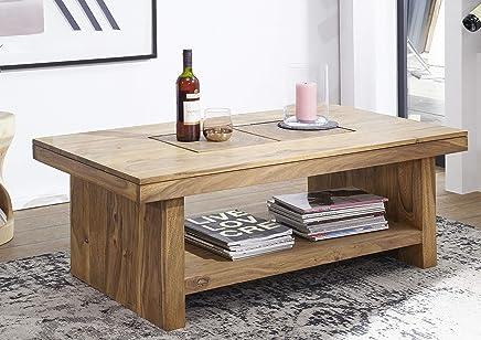 Weilandeal Table Basse Bois Massif 110 X 60 X 45 Cmmateriau Et